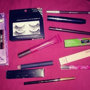 Bundle of lippies & eye makeup.